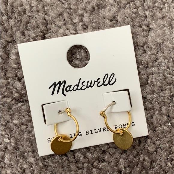b7e9ed8da78d9 Madewell Disc Charm Mini Hoop Gold Earrings